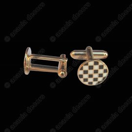 Checkerboard cufflinks - Round