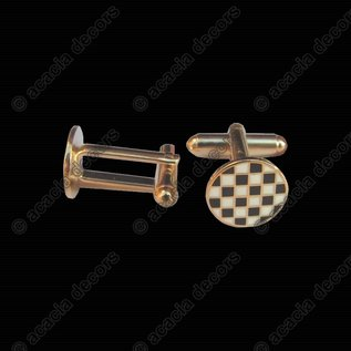 Checkerboard cufflinks - Round