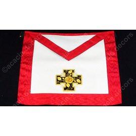 Schootsvel 18e graad vol hand geborduurd SATIJN  - gepotenceerd kruis