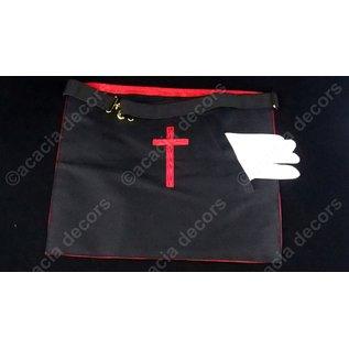 Tablier 18ème degré - brodé main  Satin - croix potencée
