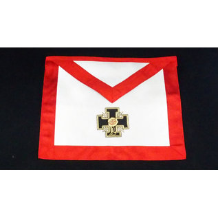 Apron18th degree - hand embroided Satin - potted cross