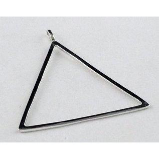 Hanger met ketting grote driehoek 5 cm