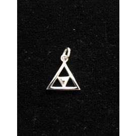 Hanger met ketting  dubbele driehoek 5mm
