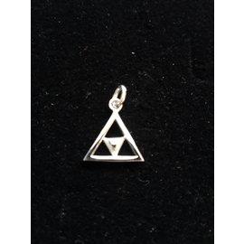 Pendentif sans chaîne - Double triangle 5mm