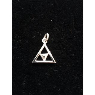Pendant with  chain - Double triangle 5mm