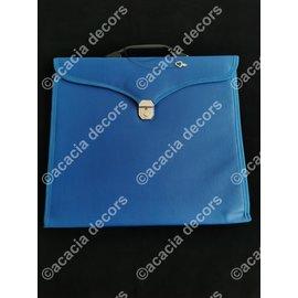 Aktetas voor schootsvellen en handschoenen - Blauw