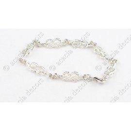 Armband broederketen zilver - mannen