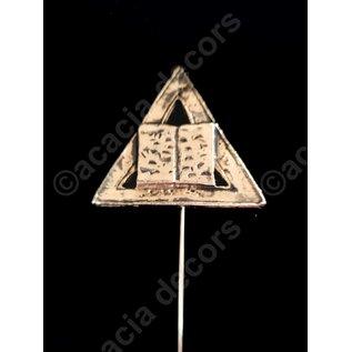 bookmark  - Book & triangle