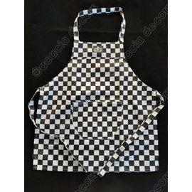 Delantal de cocina en tablero de ajedrez. - para niños