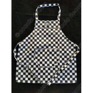 Kitchen apron in checkerboard - Kids size