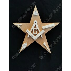 Star with compass and square