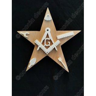 Étoile avec équerre et compas