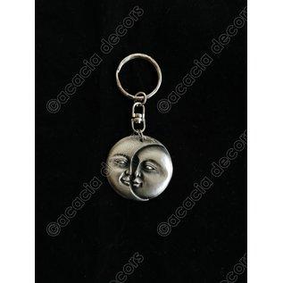 Keychain  sun and moon