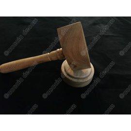 Martillo madera claro y soporte - Ronda
