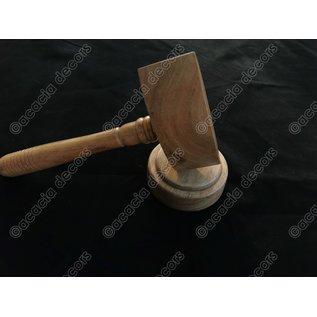 Hammer licht Holz  mit Unterstützung - Rund