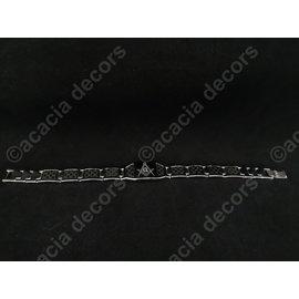 Armband mannen RVS - Zilver met passer en winkelhaak