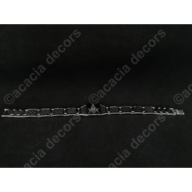 Bracelet en acier inoxydable Hommes - Argent avec équerre et compas