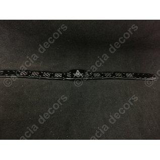 Armband mannen RVS - Zwart met passer en winkelhaak