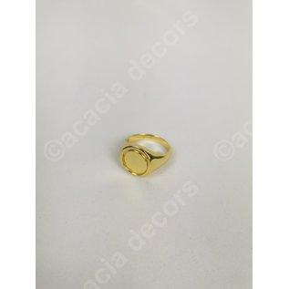 Ring verguld goud  dubbelzijdig - Zwart