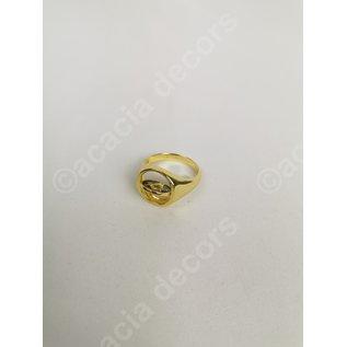Ring vergoldet doppelseitig - Schwarz