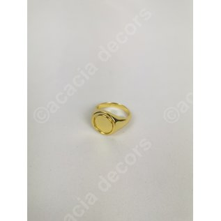 Ring plated gold double sided - Blue