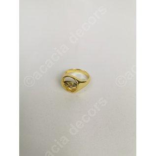 Ring vergoldet doppelseitig - Blau