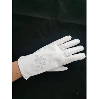 Leather Gloves compass and square