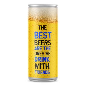 Blikje Bier met eigen etiket