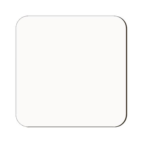 Vierkante onderzetters met bedrukking - set van 4