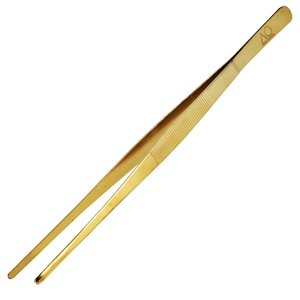 AO Hookah Accessories AO Kohlezange / Kohlepinzette Gold aus Edelstahl 30cm