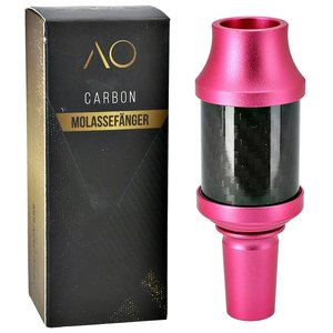 AO Hookah Accessories AO Carbon Molassefänger 18/8er Aluminium Pink