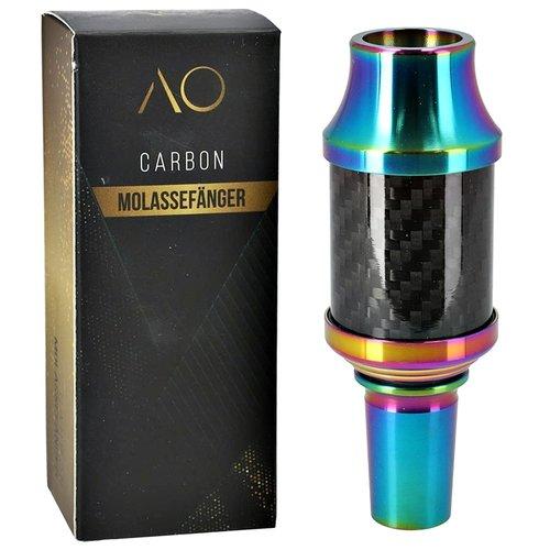 AO Hookah Accessories AO Carbon Molassefänger 18/8er Edelstahl Rainbow
