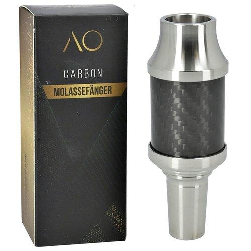 AO Hookah Accessories AO Carbon Molassefänger 18/8er Edelstahl Silver
