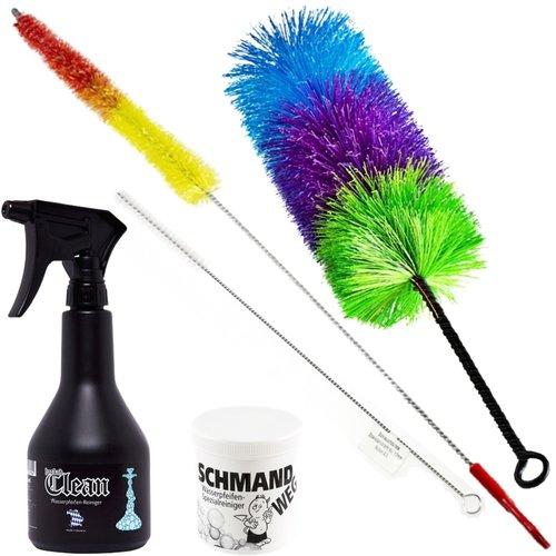 Nisha Reinigungs-Set inkl. 3 Bürsten & 2 Reinigungsmittel