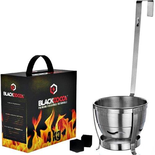 Black Cocos Black Cocos 4kg Naturkohlen inkl. Kohlekorb