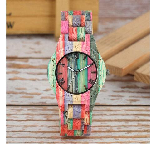 Dames horloges Bamboe horloge Londen - Dames