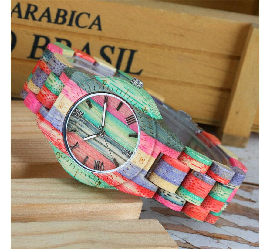 Bamboe horloge Londen dames