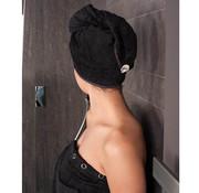 hoofdhanddoek Hoofdhanddoek van bamboe zwart