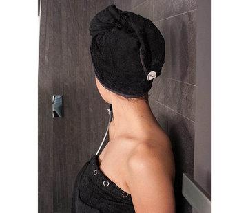 Hoofdhanddoeken Hoofdhanddoek van bamboe zwart - Haarhanddoek