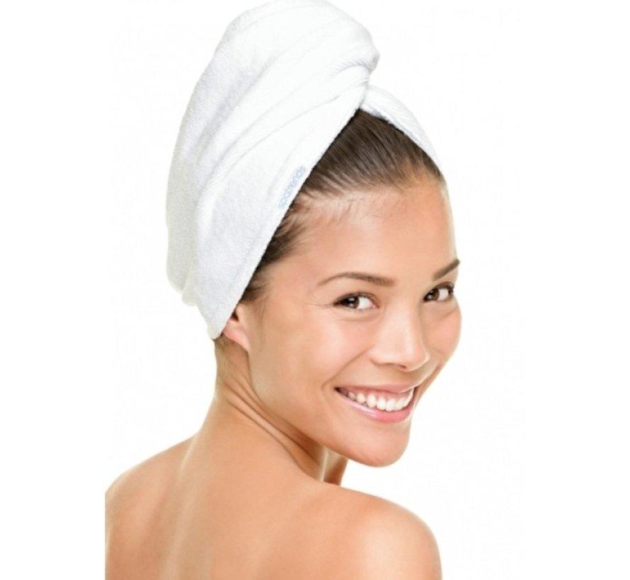 Hoofdhanddoek van bamboe wit - Haarhanddoek