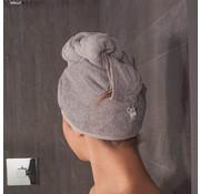 hoofdhanddoek Hoofdhanddoek van bamboe grijs