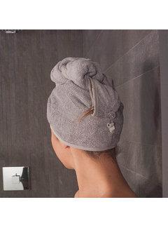 Hoofdhanddoeken Hoofdhanddoek van bamboe grijs - Haarhanddoek