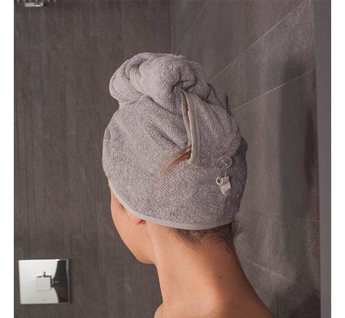 hoofdhanddoek Hoofdhanddoek van bamboe zwart grijs
