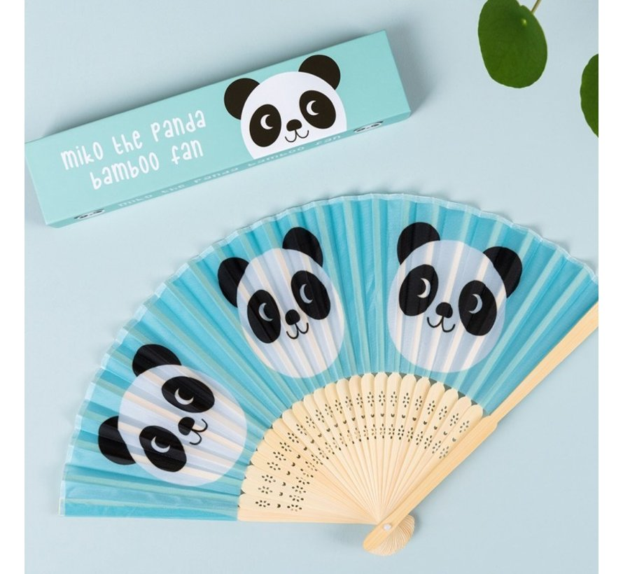 Bamboe handwaaier Miko de panda