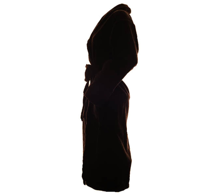 Bamboe badjas zwart van badstof