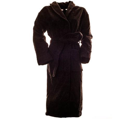 Badjas Bamboe badjas zwart van badstof