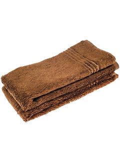 Handdoeken 50 x 30 cm Handdoek set van 2 stuks  bruin 50 x 30 cm