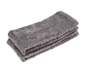 Handdoeken 50 x 30 cm Handdoek set van 2 stuks  grijs 50 x 30 cm
