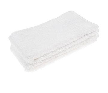 Handdoeken 70 x 30 cm Gastendoek set van 2 stuks wit 70 x 30 cm