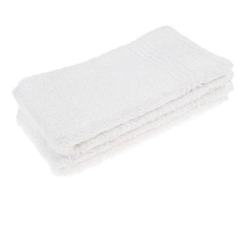 Gastendoek 70 x 30 Bamboe handdoek wit 70x30cm  3-pack